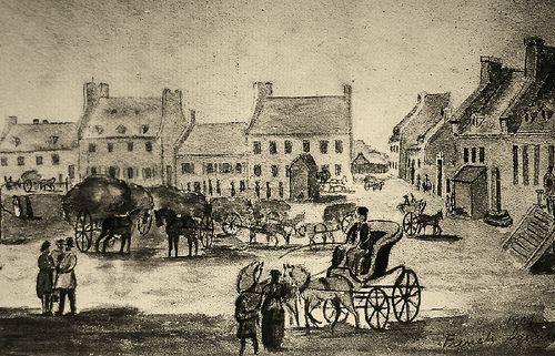 Montréal 1804. La Place d'Armes et rue Saint-Jacques >Ouest.