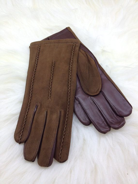 Genuine leather gloves  for men in two colours. by BeFur on Etsy, €33.50