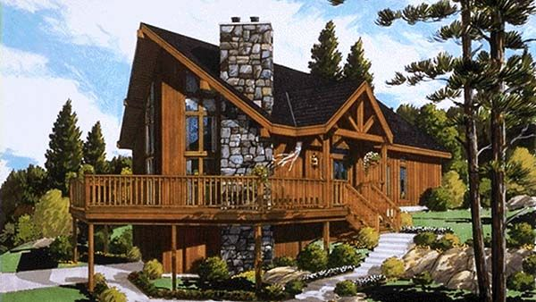House Plan 033 00001 Vacation Plan 1 306 Square Feet 3 Bedrooms 2 Bathrooms Vacation House Plans Modern Style House Plans Contemporary House Plans