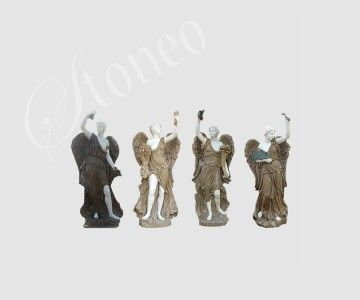 Anioły - rzeźba z kamienia