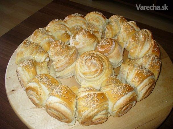 Pogača - croisantový kvet (fotorecept) - Recept