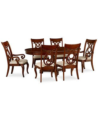 Bordeaux Round Dining Room 7 Piece Set Table 4 Side Chairs