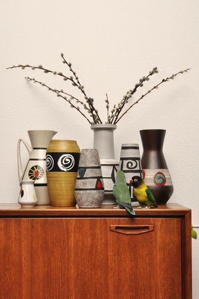 Germany vintage vases with my 2 birds !