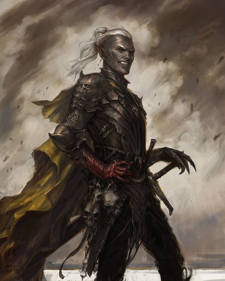 Men in fantasy art  tabletopresources : Drow 6 : Forgotten Realms by... - http://j.mp/2imIvs2