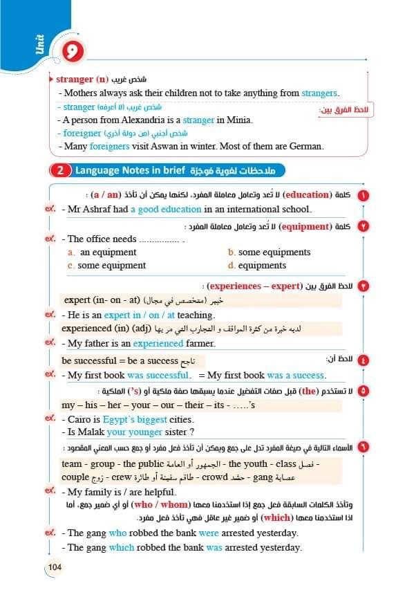 كتاب المعاصر في اللغه الانجليزيه للصف الاول الثانوي الترم الثاني 2020 Language Aswan Brief
