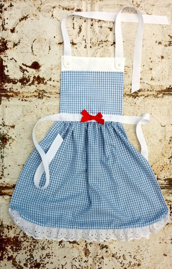 DOROTHY Wizard of OZ Disney inspired Child Costume Apron. Dress up Play Photo shoot prop. Fits 12-24 mo 2t 3t 4 5 6 7 8 9 10 11 and Girls 12 on Etsy, $29.00
