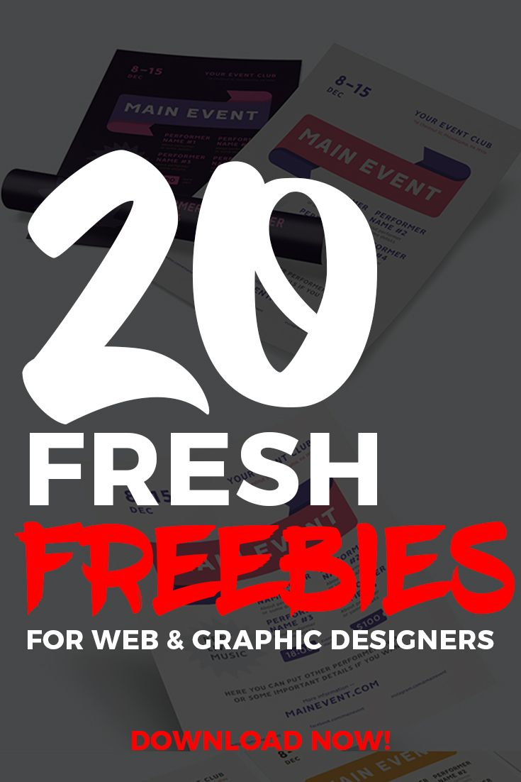 20 Fresh Freebies for Web & Graphic Designers