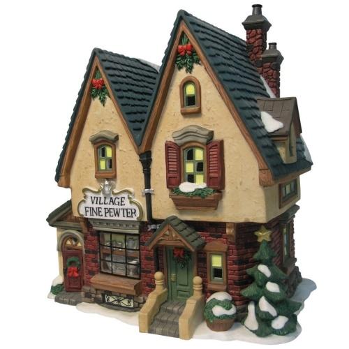 """Heartland Valley Village Lighted House: Heartland Village 8"""" Porcelain Village Building Fine"""