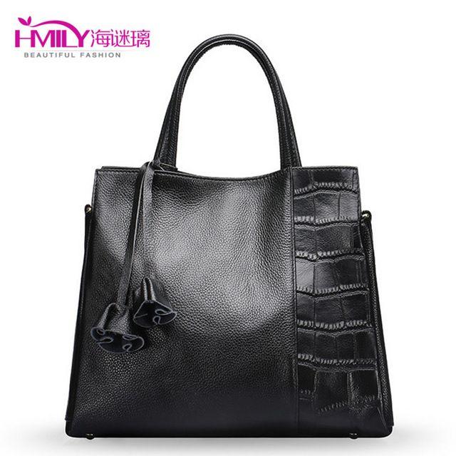 本物の牛革レディースハンドバッグカジュアルワニの女性のハンドバッグ大容量女性メッセンジャーバッグ無地毎日バッグ