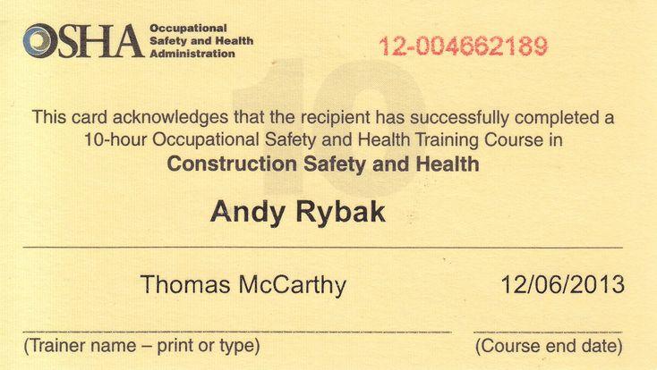 30 Osha 10 Certificate Template Blank Certificate Template