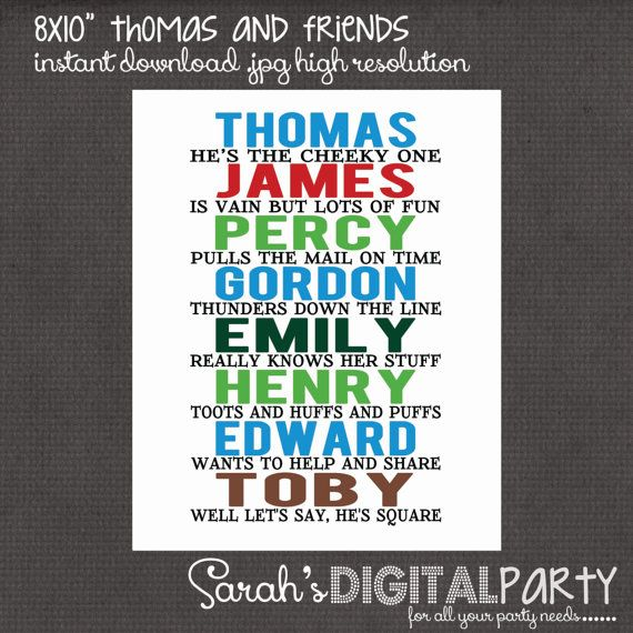 Thomas the Train and Friends 8x10 digital you by DigitalParty