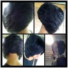 feathered bobs for black women - Google Search