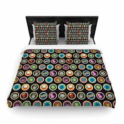 East Urban Home Stephanie Vaeth Toys, Games & Candy Pattern Woven Duvet Cover Size: King