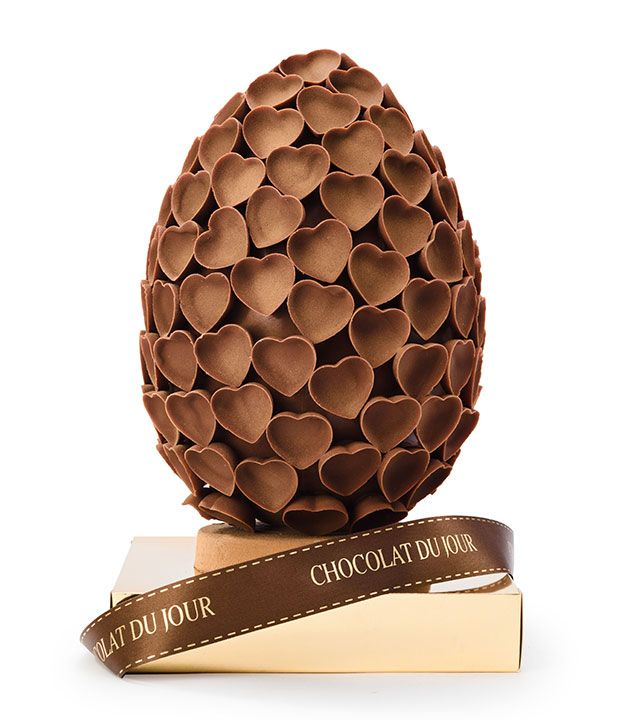 Ovo feito de corações da Chocolat du Jour (R$ 480)