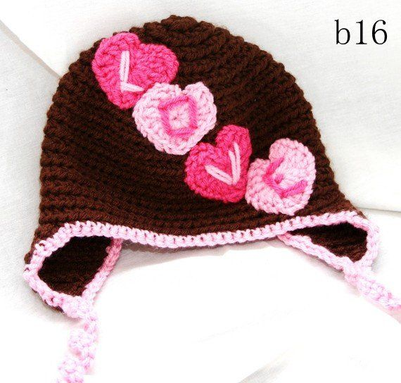 26 best Crochet - Valentine\'s Day Hats images on Pinterest ...