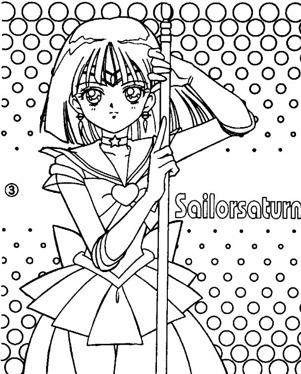 sailor moon coloring pages saturn - photo#19