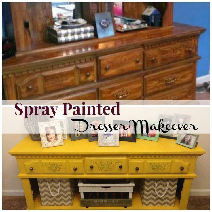 spray paint furnitureBest 25 Spray paint dresser ideas on Pinterest  Spray paint