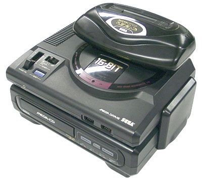 The Megadrive with all it's paraphernalia: 32X and Mega CD