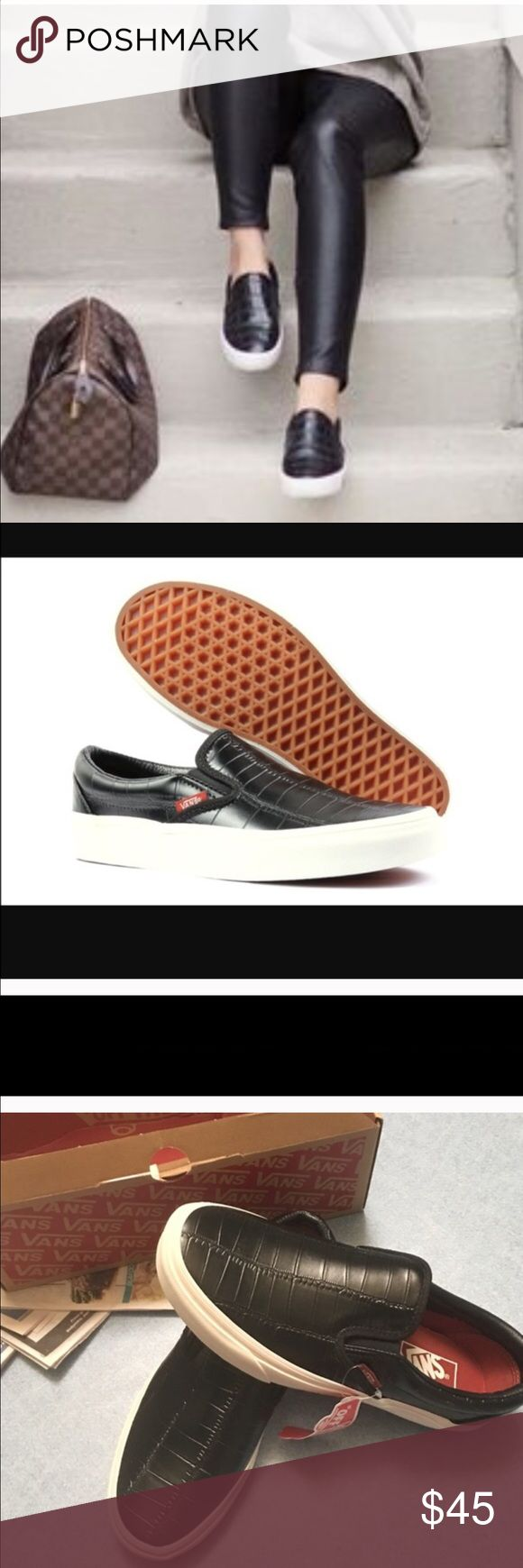 Vans leather shoes Brand new Vans Shoes