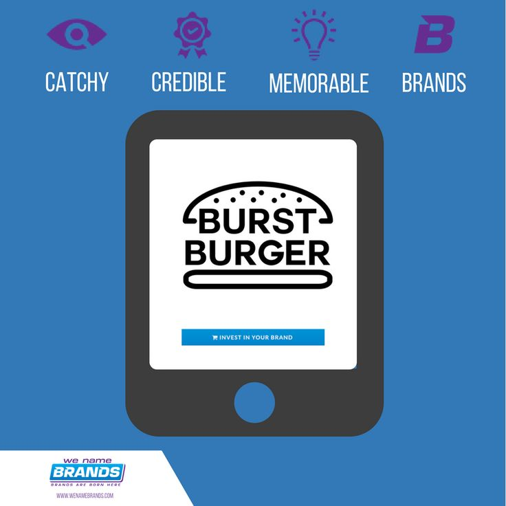 High end Burger joints have seen a resurgence in recent months globally, with growth in the UK significantly contributing to economic growth (The Times).  Take a bite out of the market with 'Burst Burger' as your brand.  Available now for $2,495, only from WeNameBrands.com!