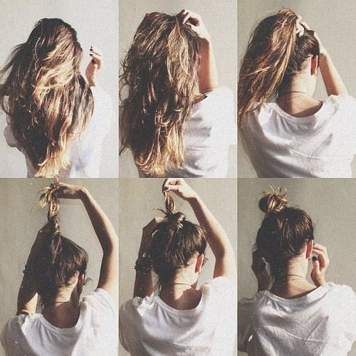 tumblr messy bun tricks google search h a i r pinterest buns image search and tumblr. Black Bedroom Furniture Sets. Home Design Ideas