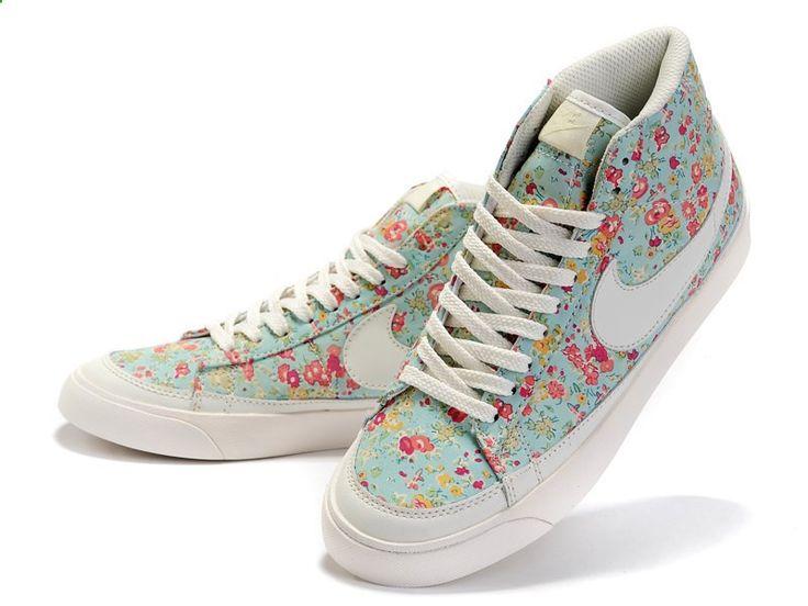 Nike Blazer Mid SB Liberty Womens Shoes - White/Blue/Red - Nike SB