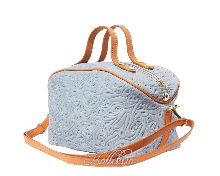 Italian Leather MakeUp Bag with Long Strap - Kollekcio  - 1