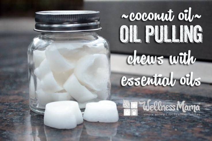 These simple homemade coconut oil pulling chews use coconut oil and essential…