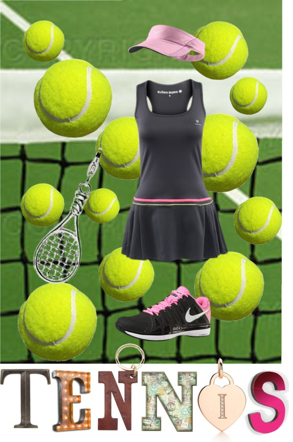 """Tennis Outfit"" by jesimarlow ❤ liked on Polyvore.  Love the tennis outfit!!!!"