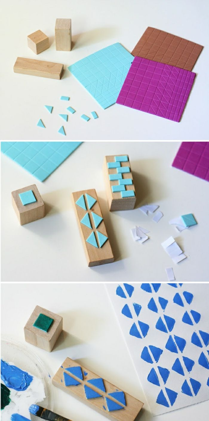▷ 1001 Ideen Und Inspirationen, Wie Sie Stempel Selber Machen | Printmaking  | Pinterest | Homemade Stamps, Gelli Printing And Craft Work