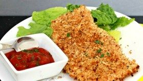 Parmesan Coated Baked Chicken Cutlets
