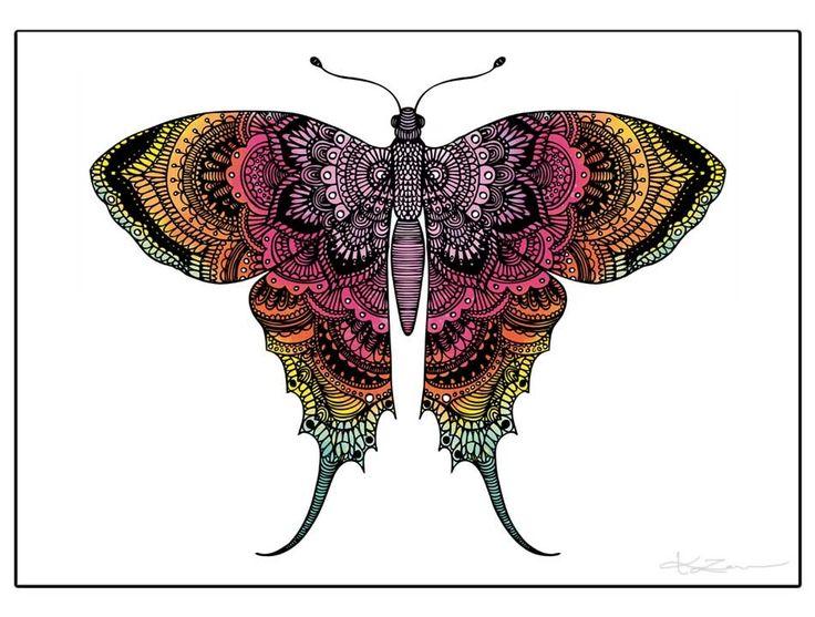 Sorgmantel, rainbow - Poster via Hanna Karlzon Shop. Click on the image to see more!