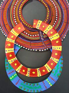 art africain assiettes en carton