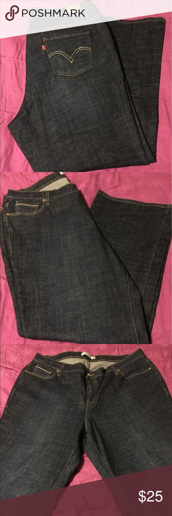 EEUC Levi's 508 Plus Size Boot Cut Jeans - 20W EEUC Levi's 508 Plus Size Boot Cut Jeans - 20W These jeans are in excellent condition.  I can only remember wearing them 2 times.  The wash is a beautiful dark blue that Levi's calls Storm Rider.  They are a 20W short.  Please refer to the chart from Levi's that I have attached. Levi's Jeans Boot Cut