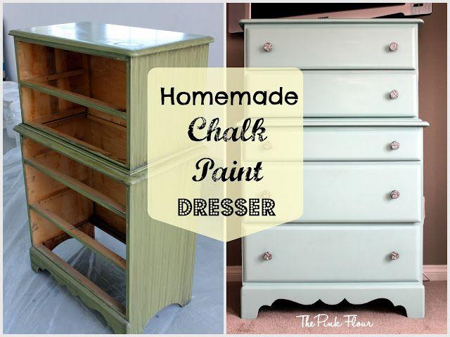 DIY - Homemade Chalk Paint Dresser: