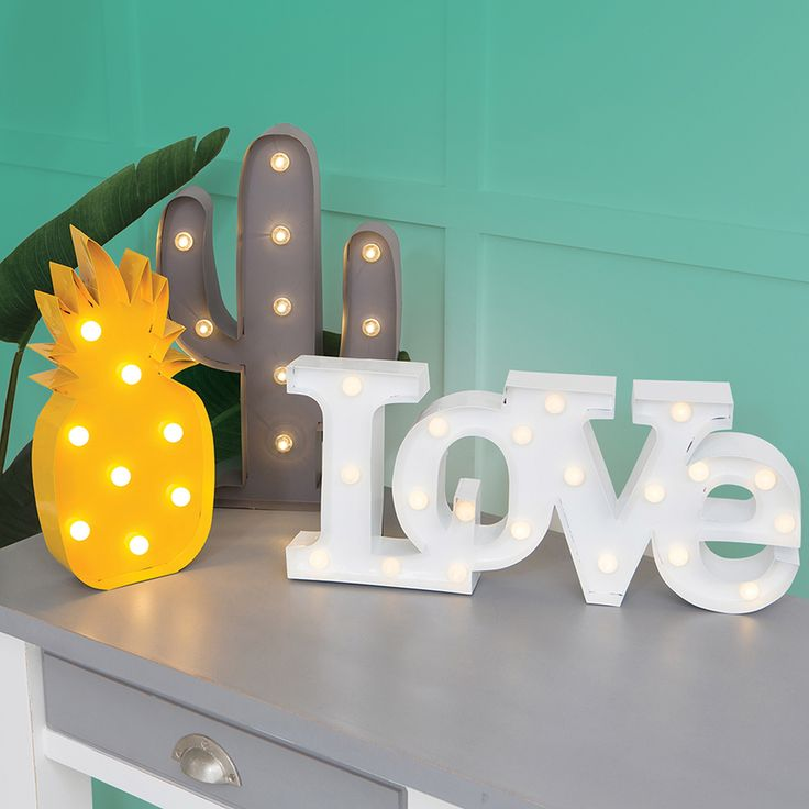 Marquee Lights need an M and an E. And the pineapple lol