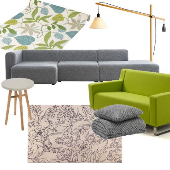 A Fresh Botanical Scheme With Light Oak Furniture
