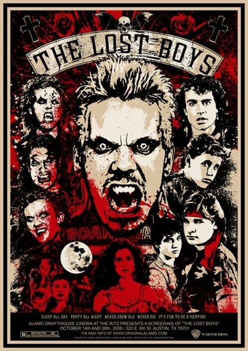 The Lost Boys - Not even a movie I'm crazy about, but this poster is so well done!