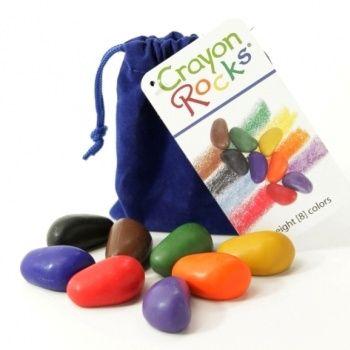 Kredki Crayon Rocks w aksamitnym woreczku - 8 kolorów