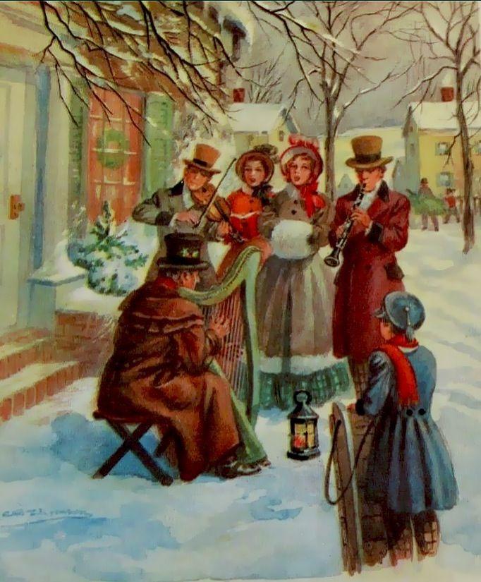 Victorians Celebrate Christmas Vintage Christmas Cards Prints