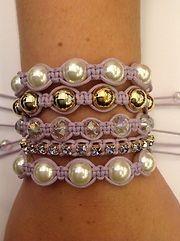 Beautiful shambala bracelets with pearls