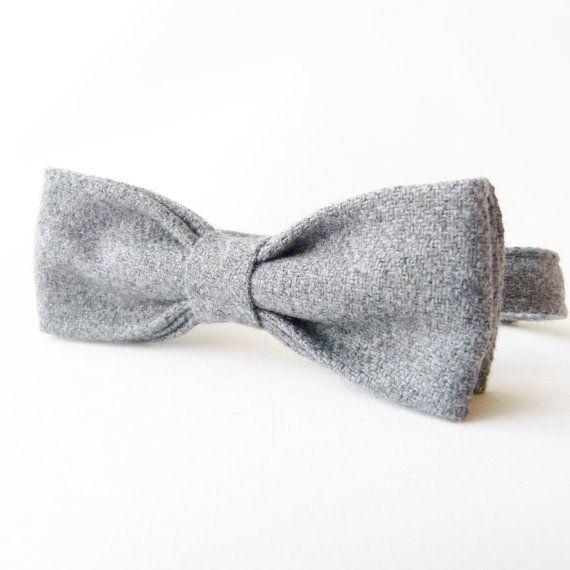 Fliege aus Wolle Tweed // tweed bow tie via DaWanda.com