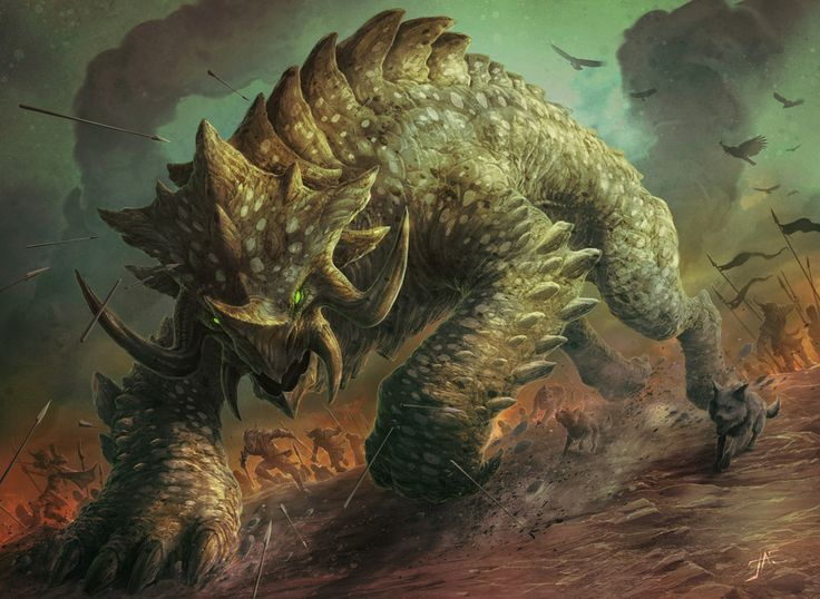 Siege behemoth by jason engle magic the gathering for Domon siege social