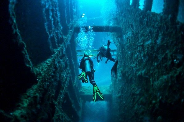 Scuba dive at one of the world's best dive spots - SS President Coolidge