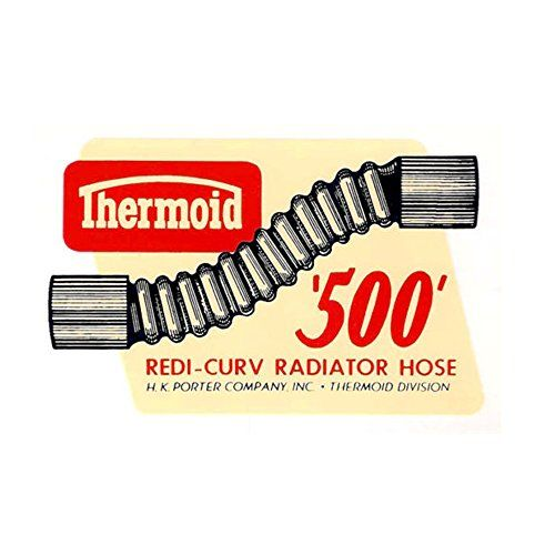 Thermoid Redi-Curve Radiator Hose Vintage Reproduction Drag Racing Hot Rod Decal Bumper Sticker #Thermoid #Redi #Curve #Radiator #Hose #Vintage #Reproduction #Drag #Racing #Decal #Bumper #Sticker