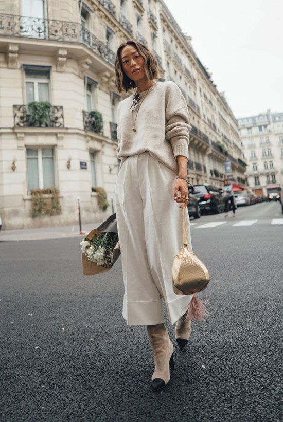 490a3e5ede26 A Sophisticated Way To Pull-Off Culottes This Spring   Women s Fashion    Pinterest   Fashion, Fashion trends and Outfits