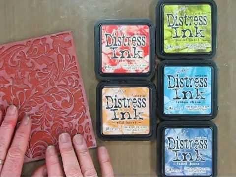 Rainbow Distress Inking from Hero Arts Shari Carroll