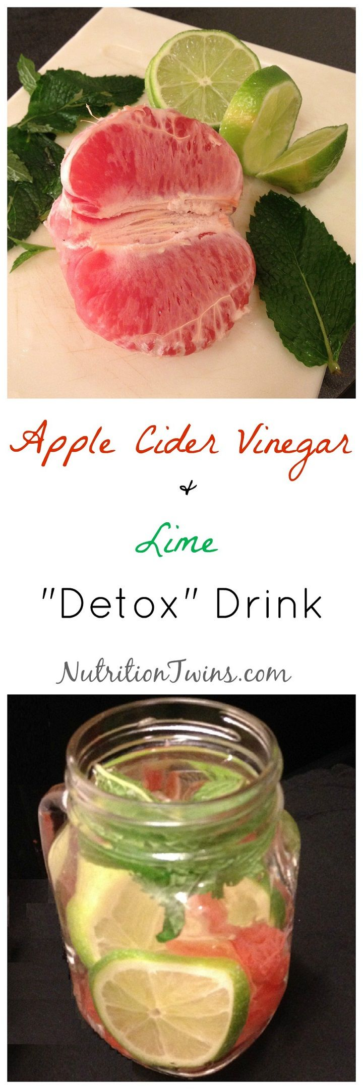 "Apple Cider Vinegar & Lime ""Detox"" Drink 