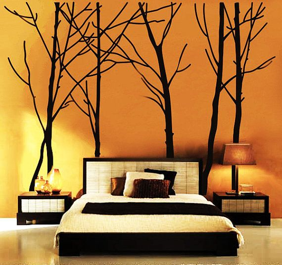 Wall Decal, wall Stickers ,Tree Wall Decals ,Wall decals, Removable, Tree and Birds, happy forest