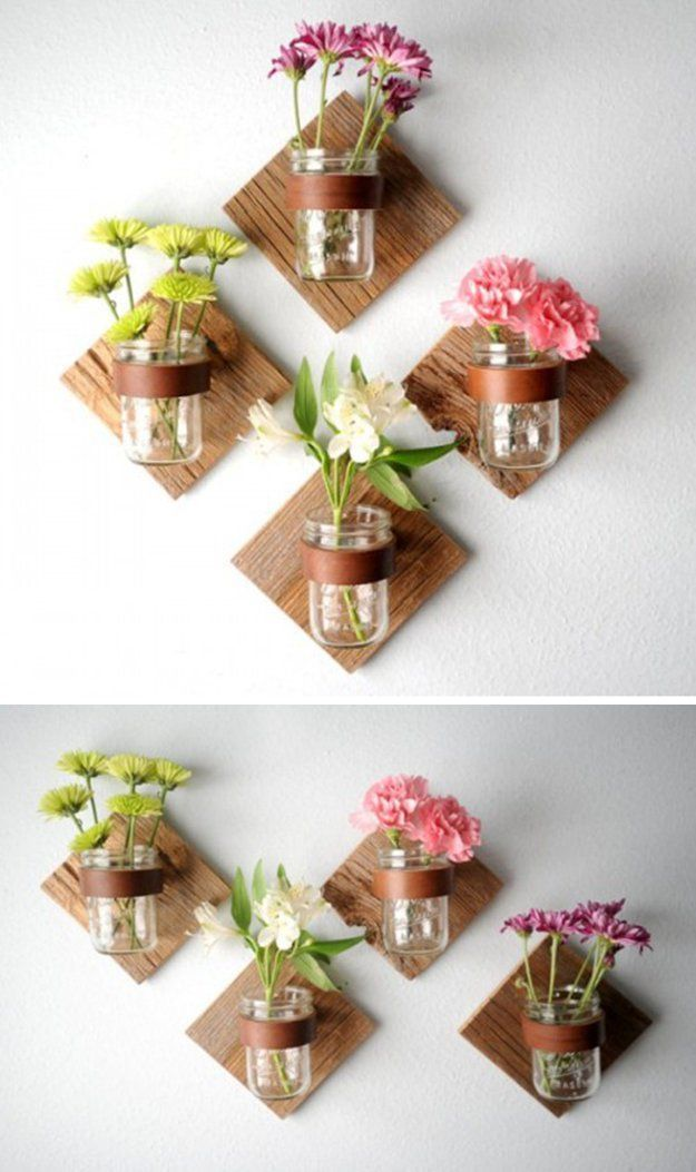 diy wall bathroom decor on a budget diy rustic mason jar sconce by diy ready - Diy Bedroom Wall Decorating Ideas